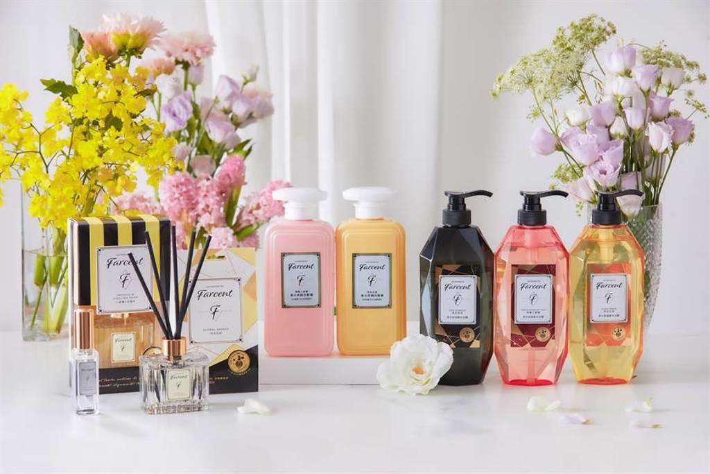 花仙子推Farcent香水奇蹟洗髮露/護髮素。(Les Parfums De Farcent提供)