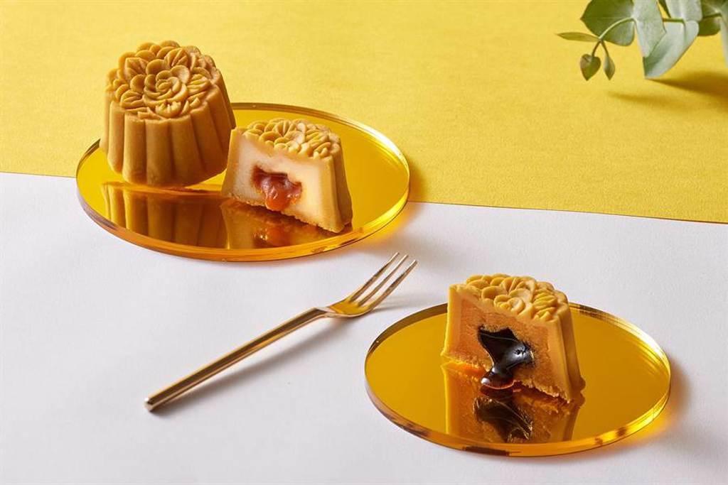 台北美福大飯店「流金望月」月餅禮盒。圖/台北美福大飯店提供