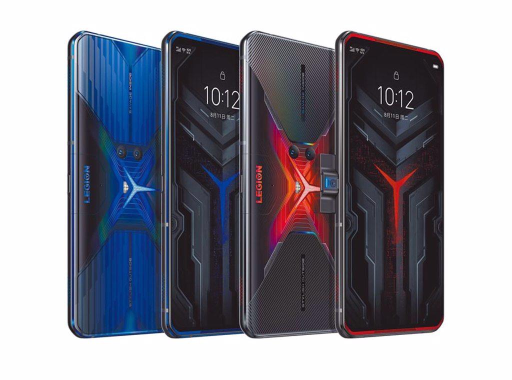 Lenovo Legion Phone Duel共推出赤焰戰甲及炫藍冰刃2色。(Lenovo提供)