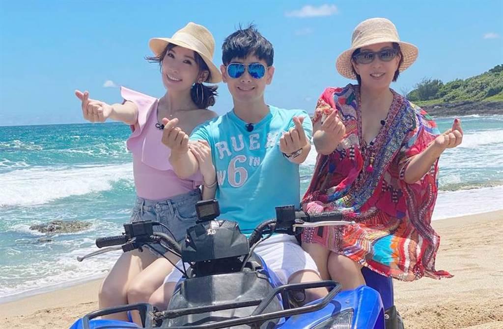 林志穎近日帶著媽媽和嬌妻陳若儀一起上陸綜《婆婆和媽媽》。(圖/翻攝自臉書)