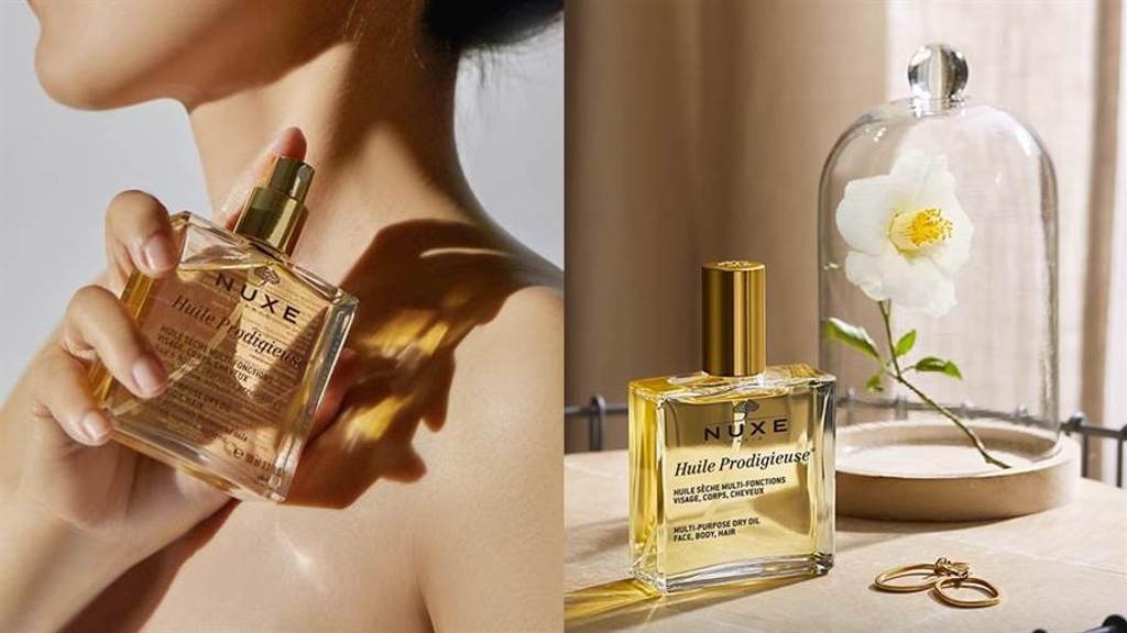 「小金油」天天使用肌膚更細緻、柔軟;使用於秀髮上,髮絲更柔順、柔軟並增加自然光澤。(圖/品牌提供)