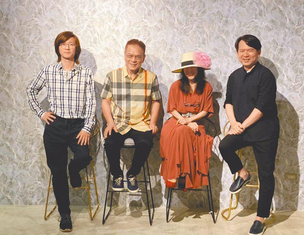 李建復(右起)、洪小喬、黃瑞豐及林隆璇9月將於民歌45演唱會開唱。(開麗娛樂提供)