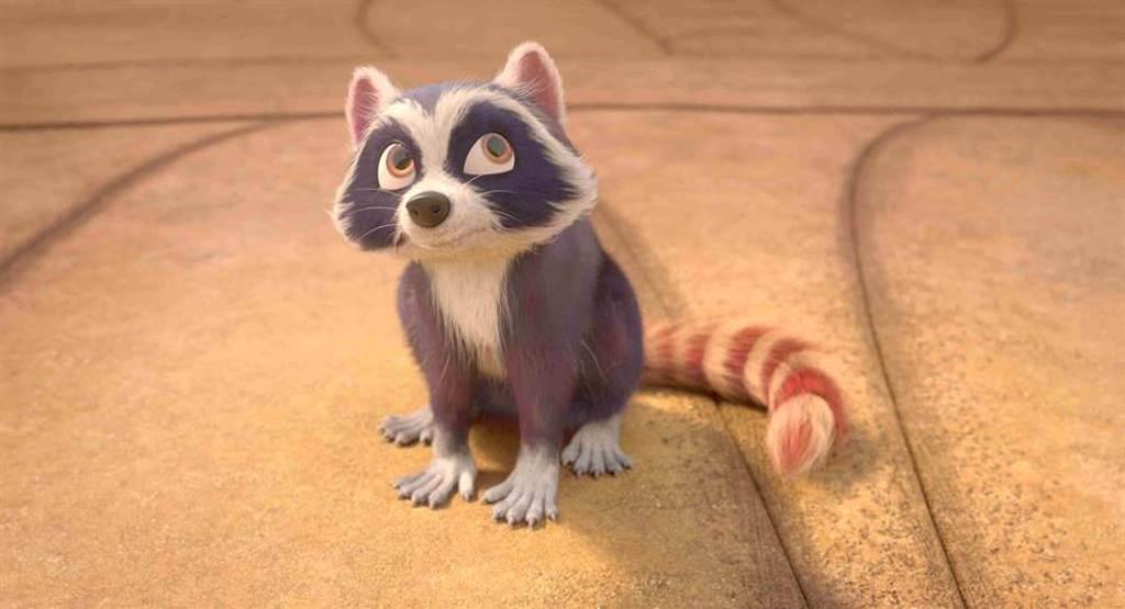 靠吃東西獲取能量的浣熊比歐是小朋友最喜歡的角色。(海鵬提供)