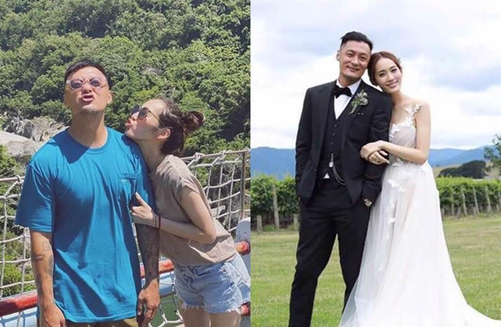 余文樂和王棠云結婚後,愛相隨長住台灣。(圖/翻攝自sarah9_23 IG、資料照片)