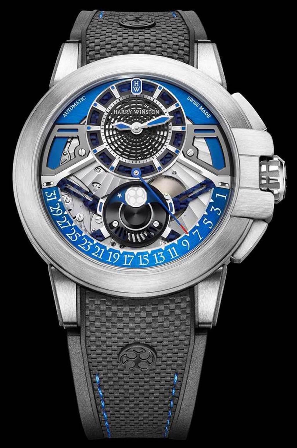 HARRY WINSTON「Project Z13自動腕錶」,Zalium鋯合金錶殼,42mm╱820,000元。(圖╱HARRY WINSTON提供)