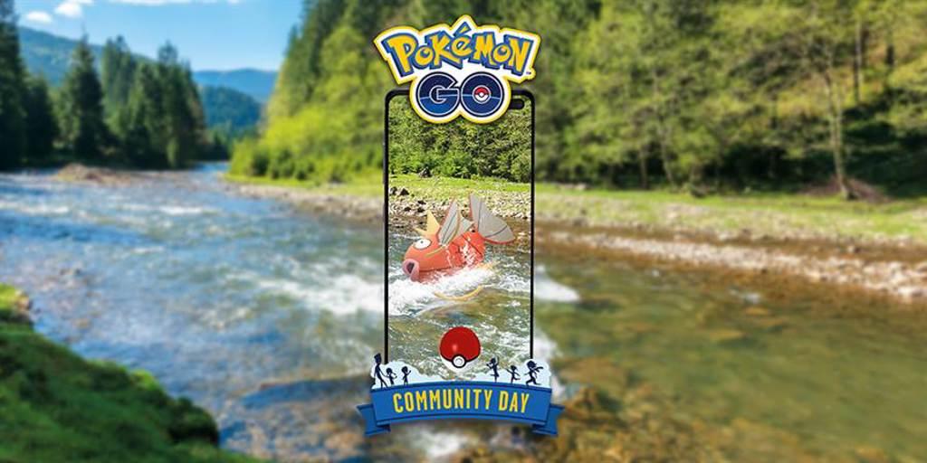 《Pokémon GO》8月社群日起跑,主角是鯉魚王。(摘自Pokémon GO官方部落格)