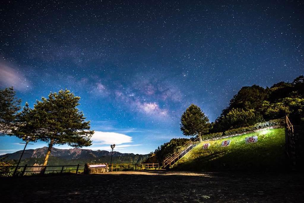 阿里山森林遊樂園區的對高岳車站。(嘉義縣政府提供/張毓翎嘉義傳真)