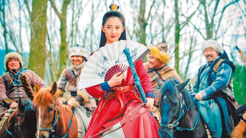 大陸女星陳鈺琪在新版《倚天屠龍記》飾演趙敏。(中視提供)