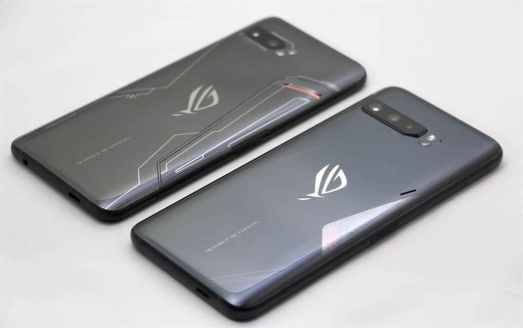 華碩ROG Phone 3(下)vs ROG Phone 2。(黃慧雯攝)