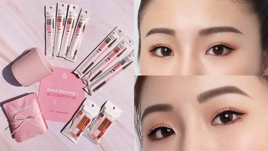 開架美妝品牌Za在2020年8月為銷售No.1的經典眉彩系列換上新包裝。(圖/品牌提供)
