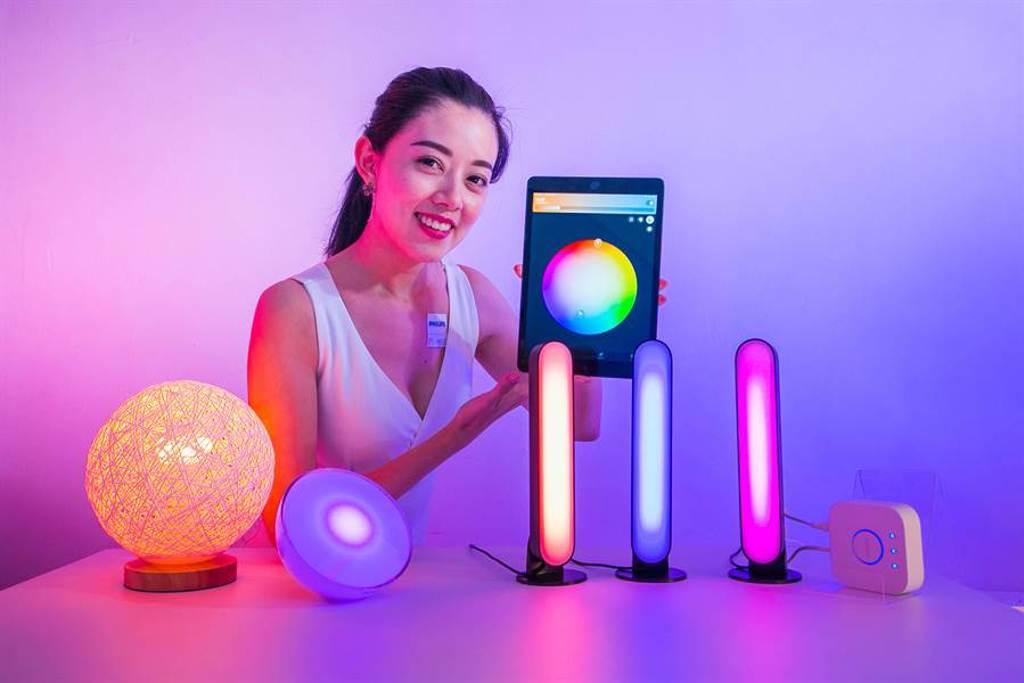 Philips Hue在今年就推出一系列燈具新品,除了是家中氣氛神器之外,也很適合喜歡攝影的人使用!(圖/品牌提供)