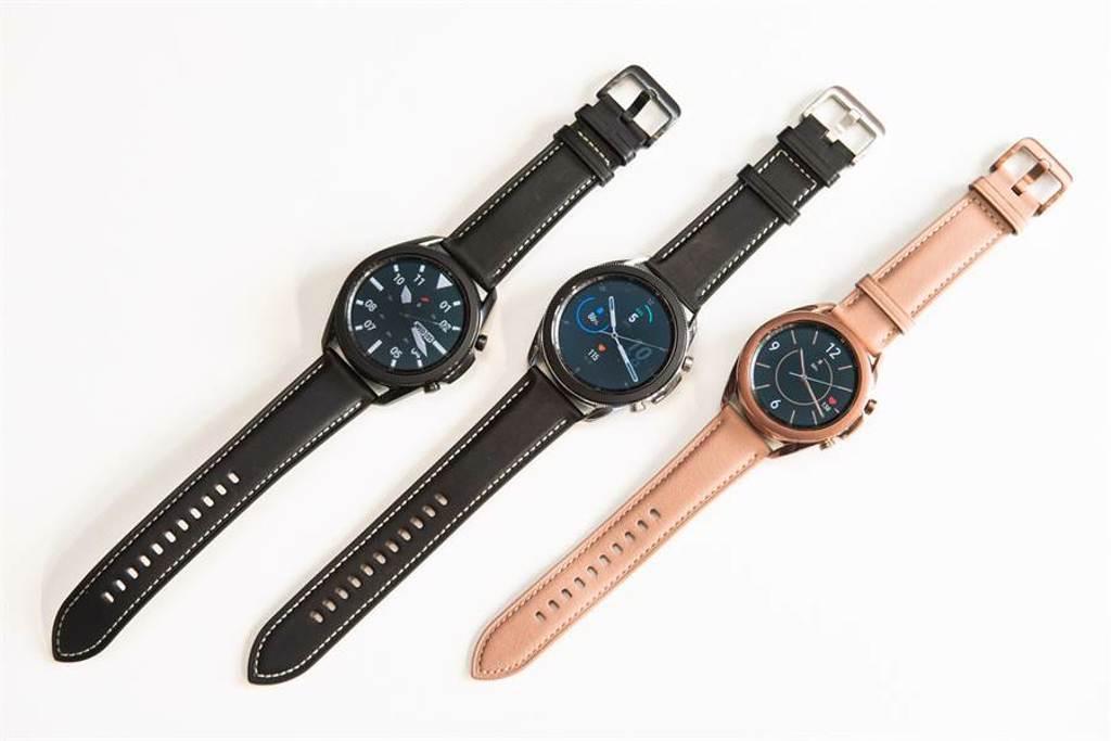 Galaxy Watch3共推出45mm星幻黑、星幻銀,41mm星霧金三種顏色。(三星提供/黃慧雯台北傳真)