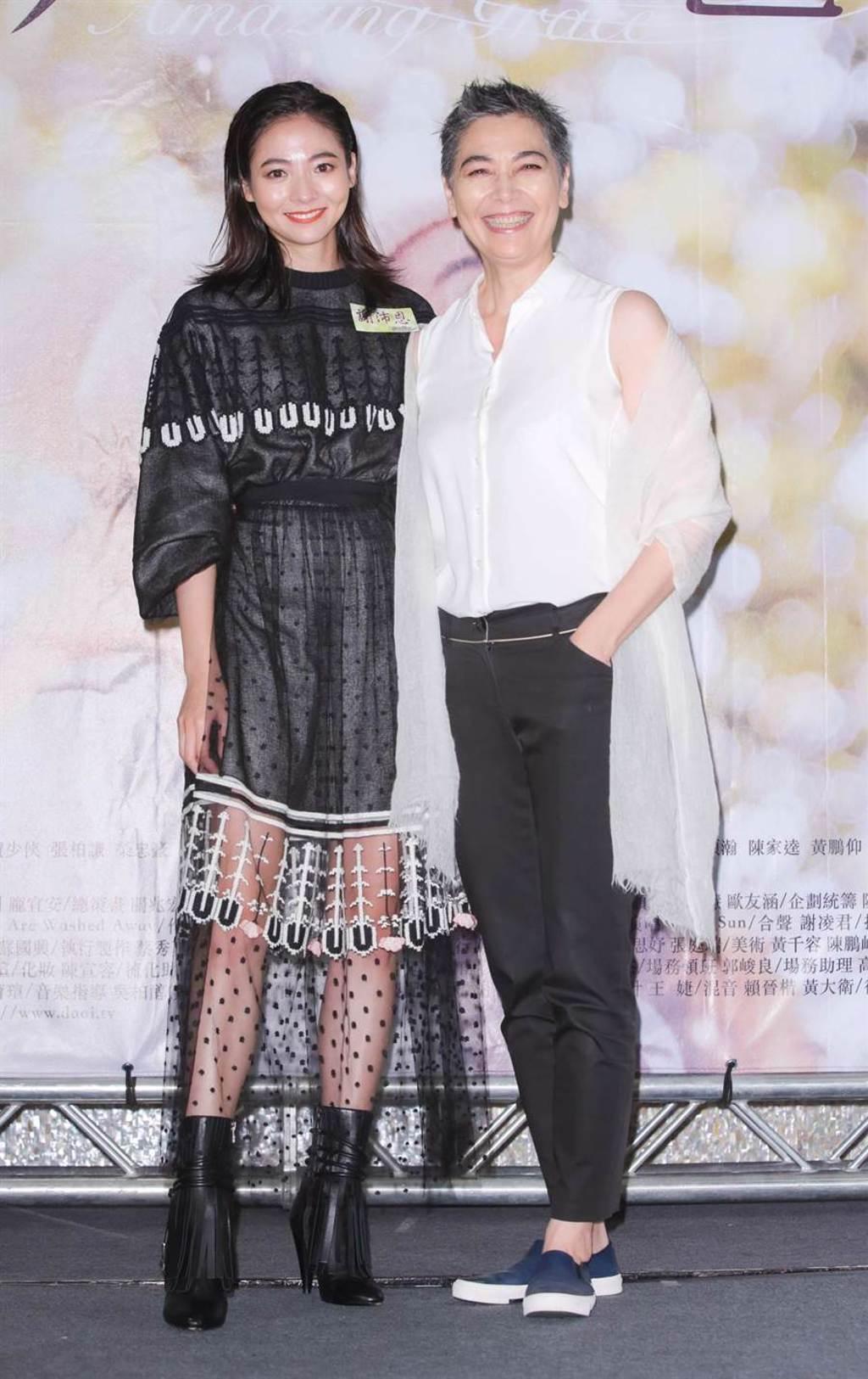 賴佩霞出席女兒謝沛恩新戲首映,給她驚喜。(吳松翰攝)
