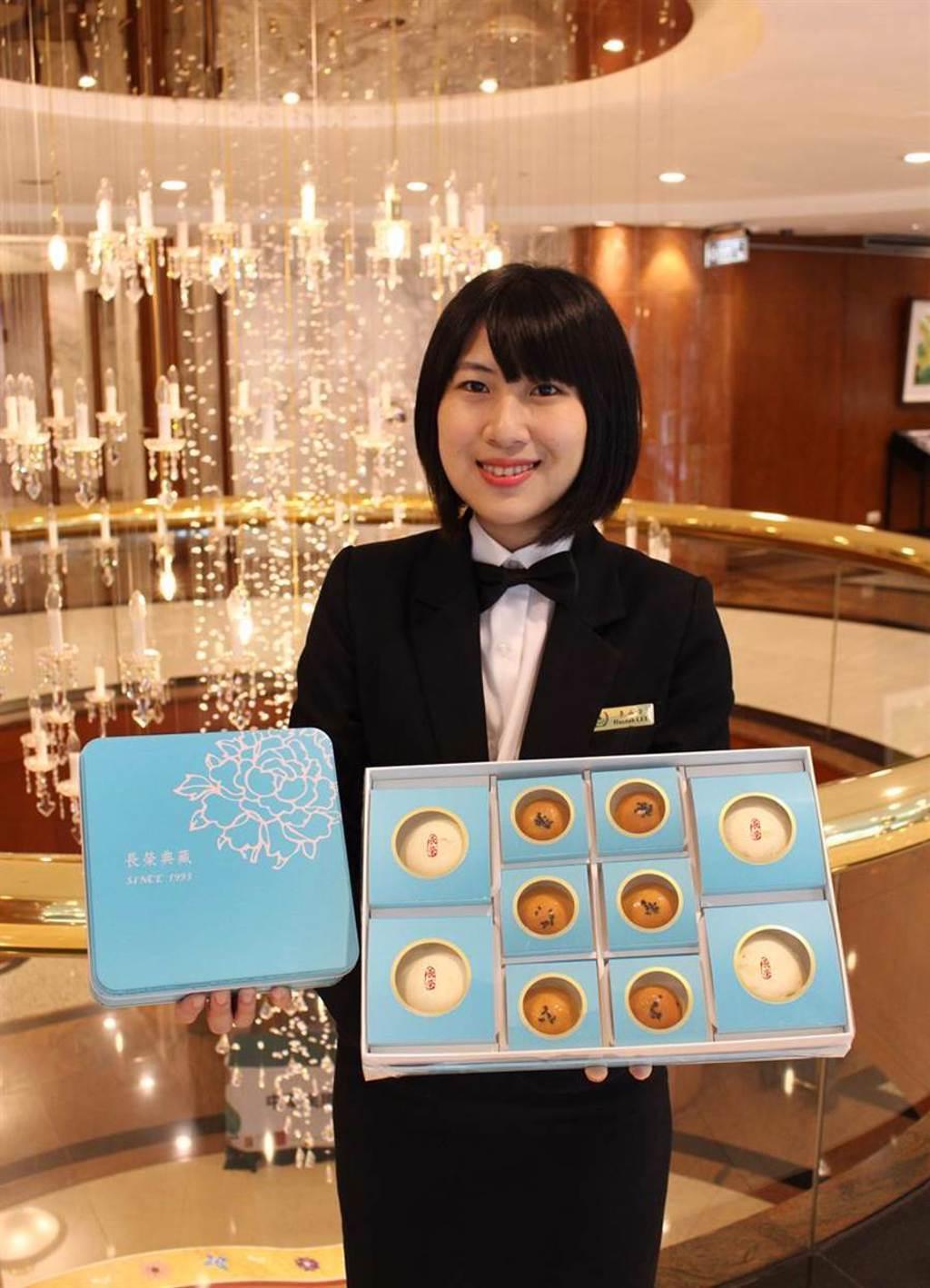 台中長榮桂冠酒店「金采禮盒」,屢獲全台飯店酥皮月餅第一名。圖/長榮桂冠提供