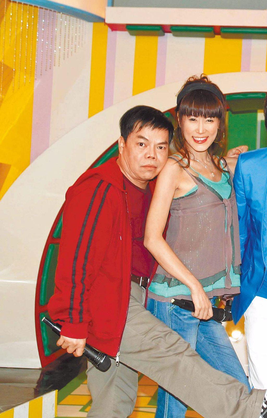 蔡頭(左)和羅霈穎有多年好交情。(資料照片)