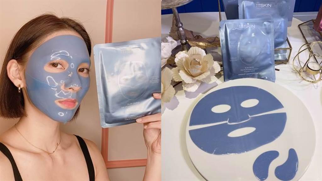 極光激能藍面膜結合創新「CRYO冷療科技」原理及「四胜肽」,幫助促進肌膚細胞循環、膠原蛋白合成,有效消除水腫、緊緻拉提,維持肌膚Q、彈、嫩!(圖/邱映慈攝影)