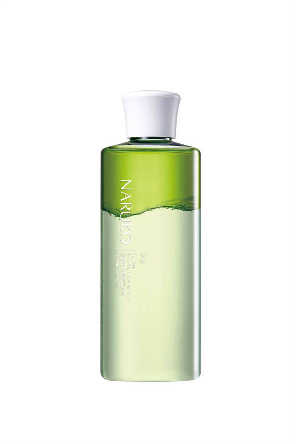 茶樹速淨搖搖卸妝水是油2:水8的雙層狀態。(圖/品牌提供)