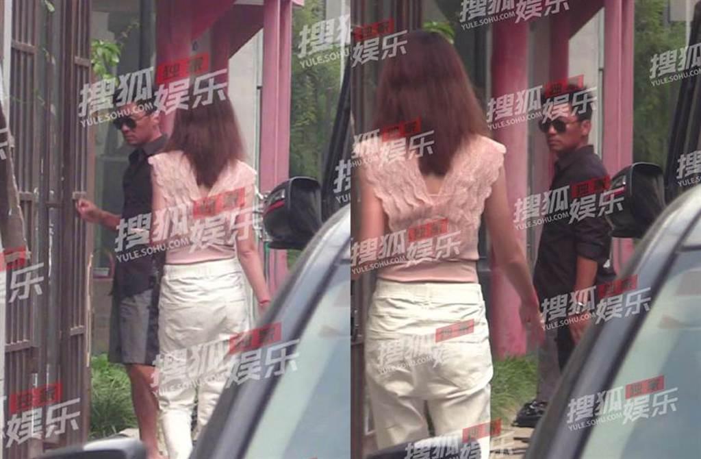 王寶強和女友馮清回工作室。(圖/翻攝自搜狐娛樂微博)