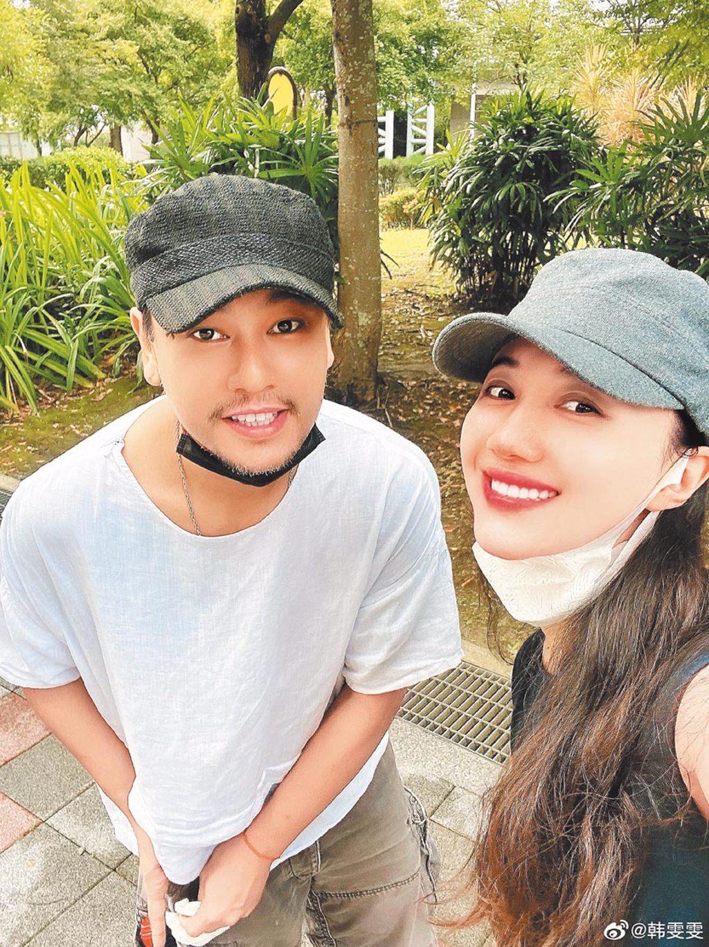 朱孝天(左)與韓雯雯結婚4年,昨曝生子計畫暫緩。(摘自微博)