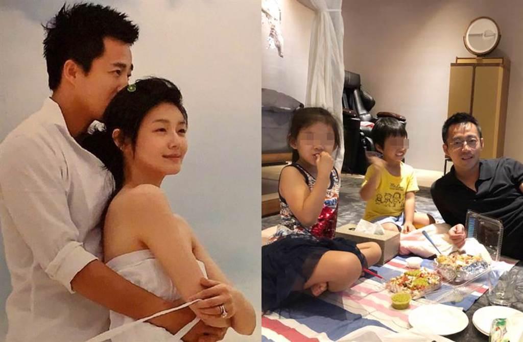 汪小菲和大S育有一子一女。(圖/翻攝自新浪娛樂、汪小菲微博)