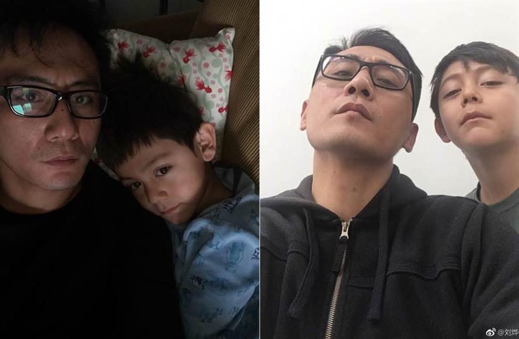 影帝劉燁帶兒子諾一上《爸爸去哪兒3》,人氣爆棚。(取材自劉燁微博)