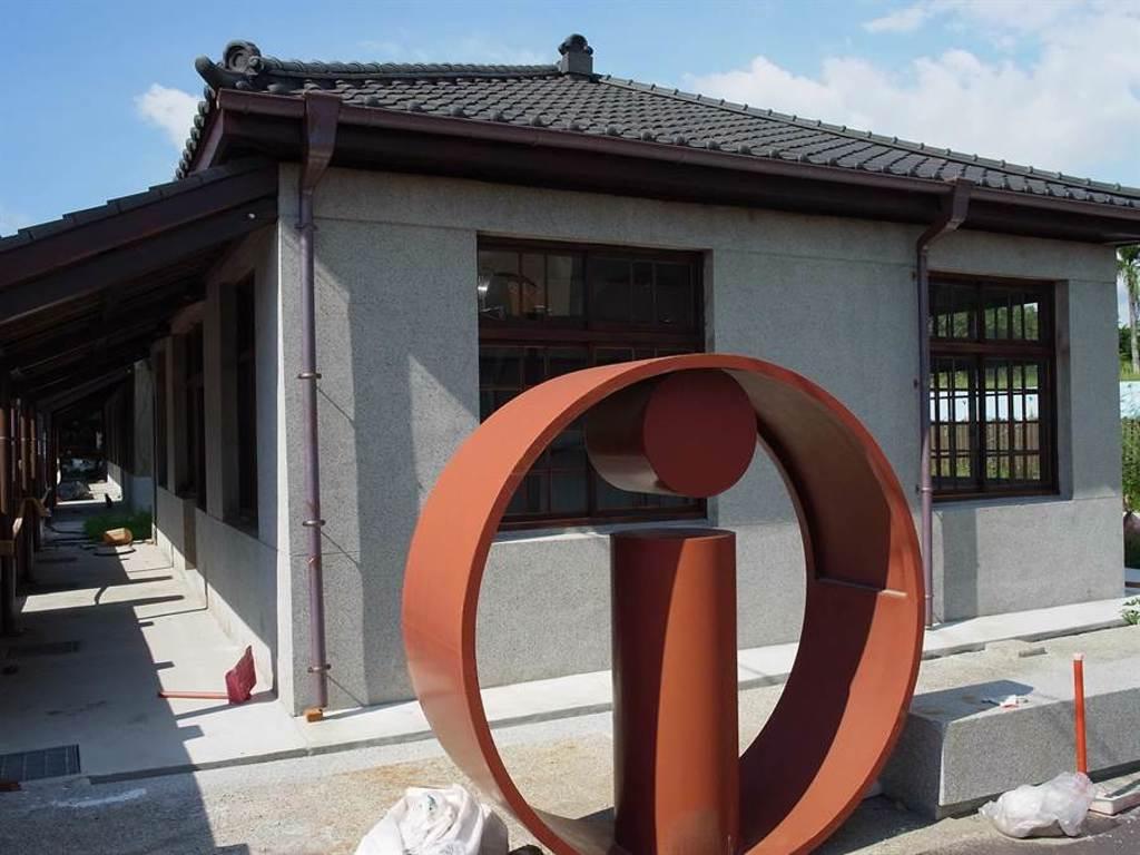 雲林縣北港鎮第1自來水廠老舊宿舍群進行活化,重現歷史現場風貌。(張朝欣攝)
