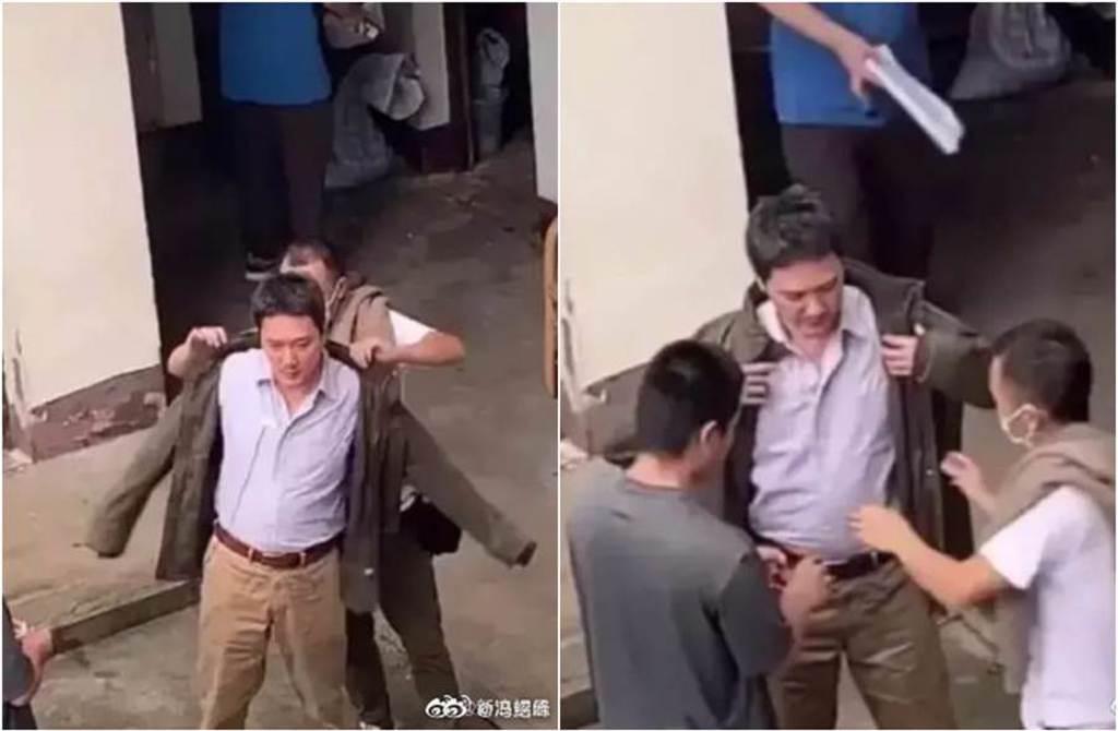 馮紹峰被拍到挺肚發福照。(圖/翻攝自微博)