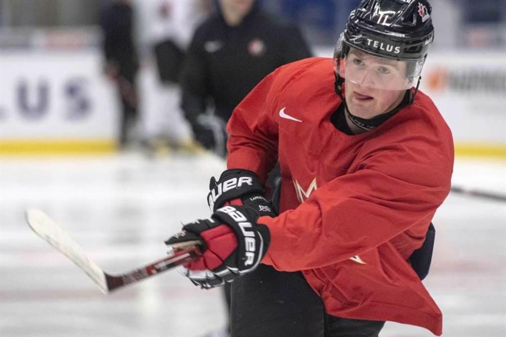 加拿大左前鋒拉弗蘭尼爾(Alexis Lafreniere)被看好是NHL今年10月的選秀狀元。(美聯社資料照)