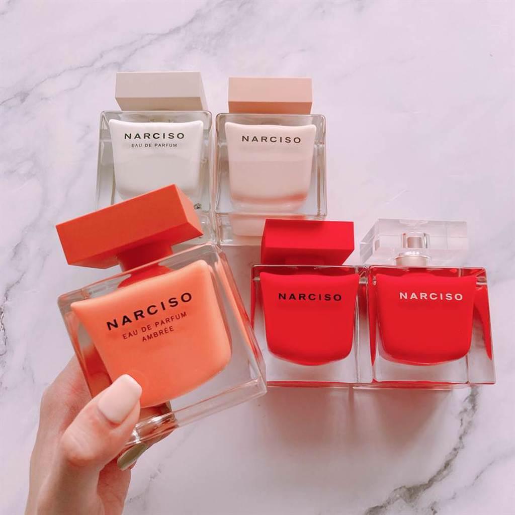 NARCISO方瓶香水全系列。(圖/邱映慈攝影)