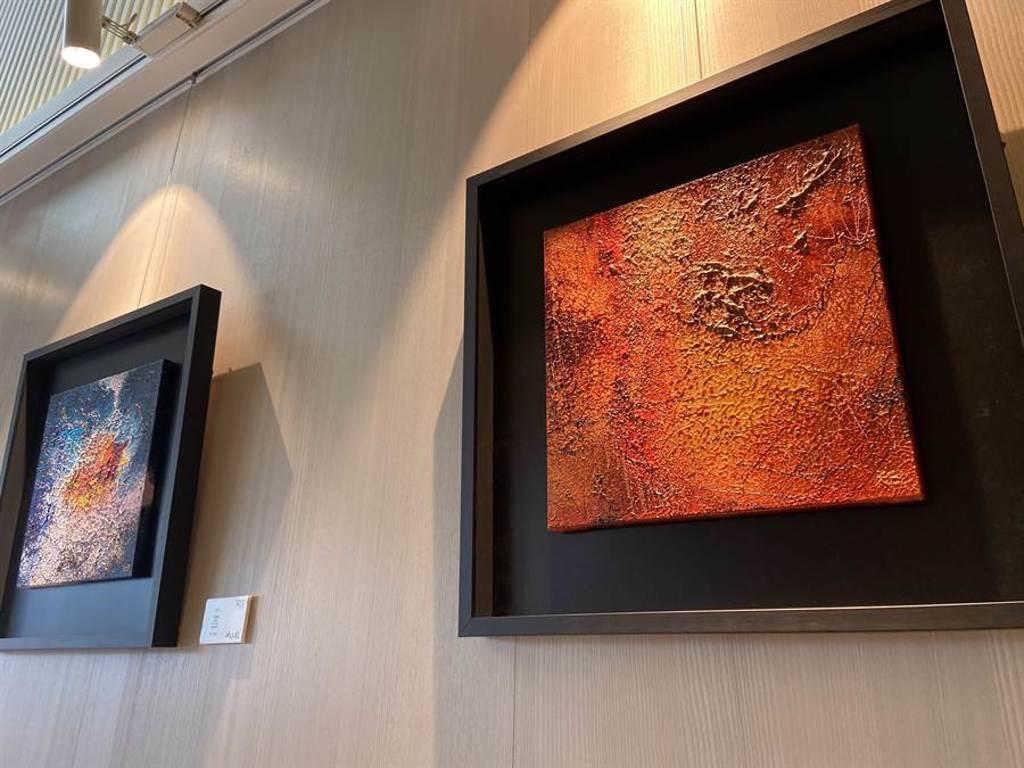 「裕盛沁森林」圓滿完銷新案預約中,藝文展覽匯聚舊雨新知。(盧金足攝)