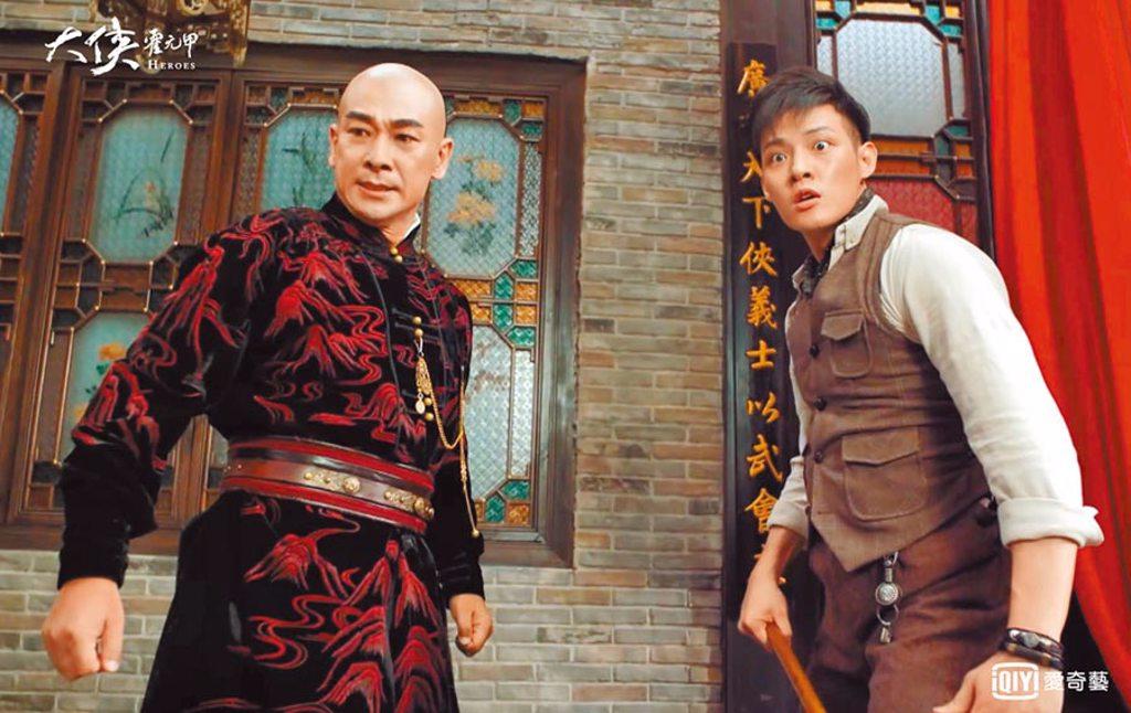 寇家瑞(右)首次和趙文卓合拍戲,感到開心又幸運。(愛奇藝台灣站提供)