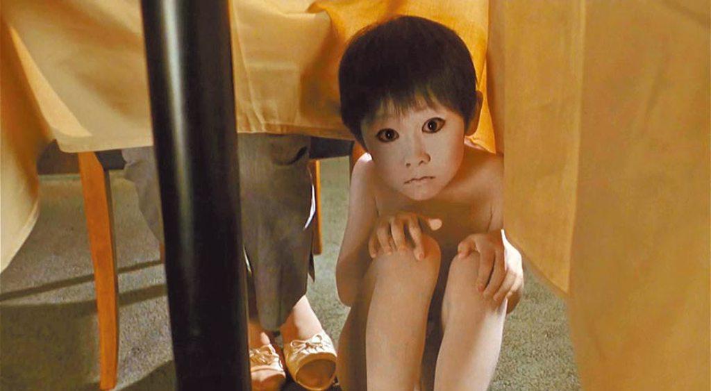 《咒怨》借用傳統歌舞伎鬼魅元素呈現幽靈,鬼孩「俊雄」即為一例 (資料照片)