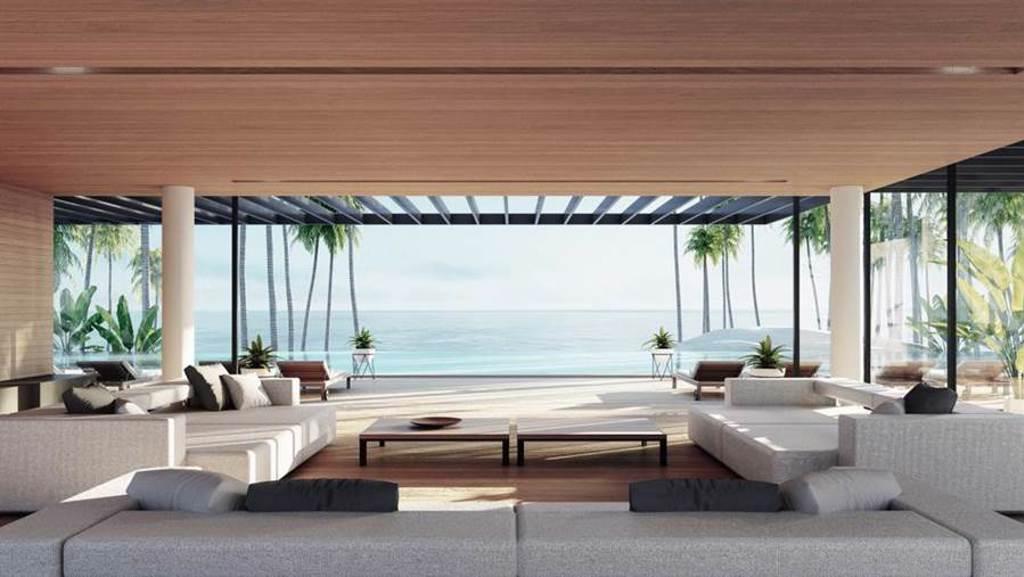 許多房間打開門就能看到漂亮的海景。示意圖。(圖片來源/達志影像shutterstock提供)