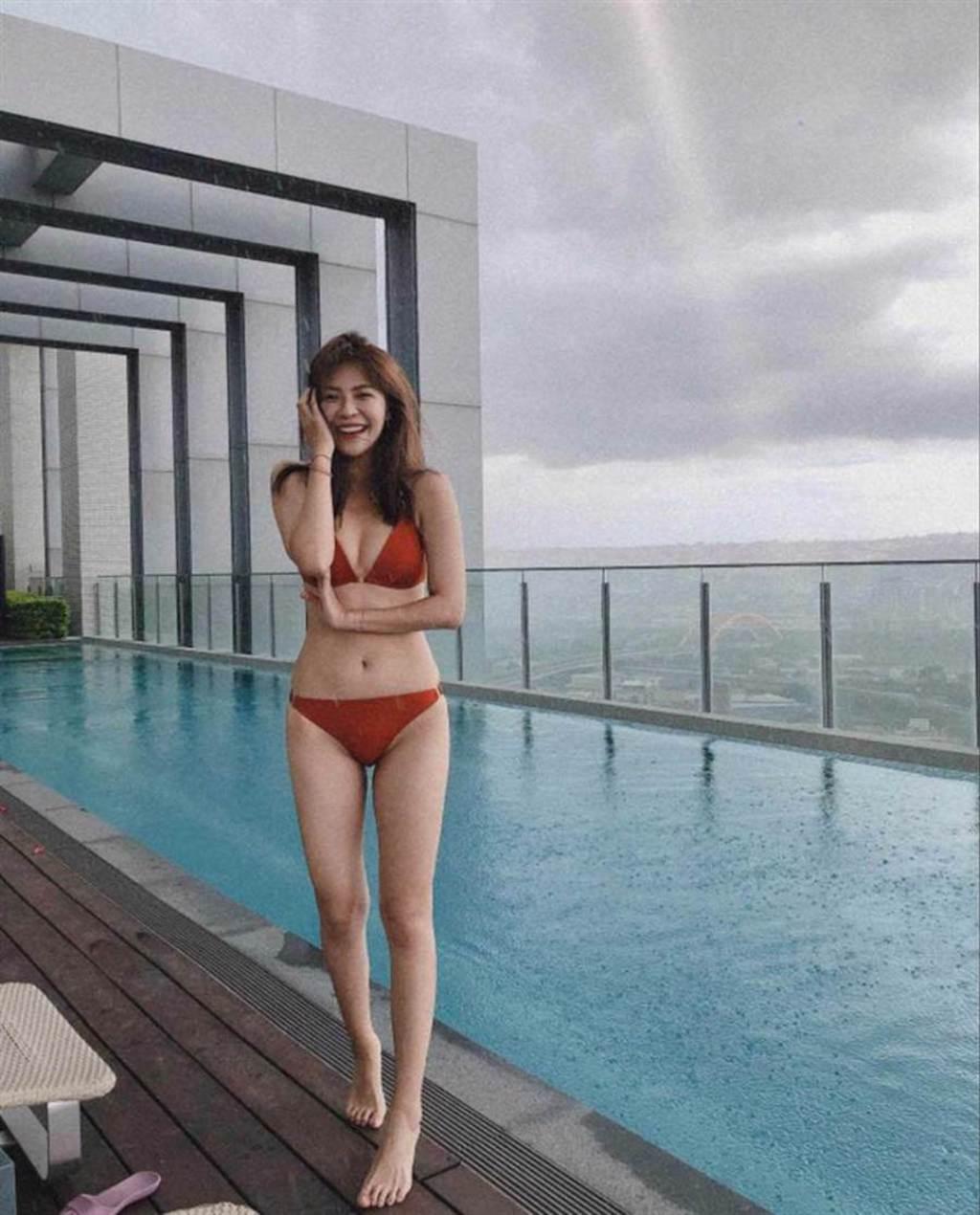 身材姣好的林萱瑜,常在社群網站分享美照。(圖/翻攝自IG)