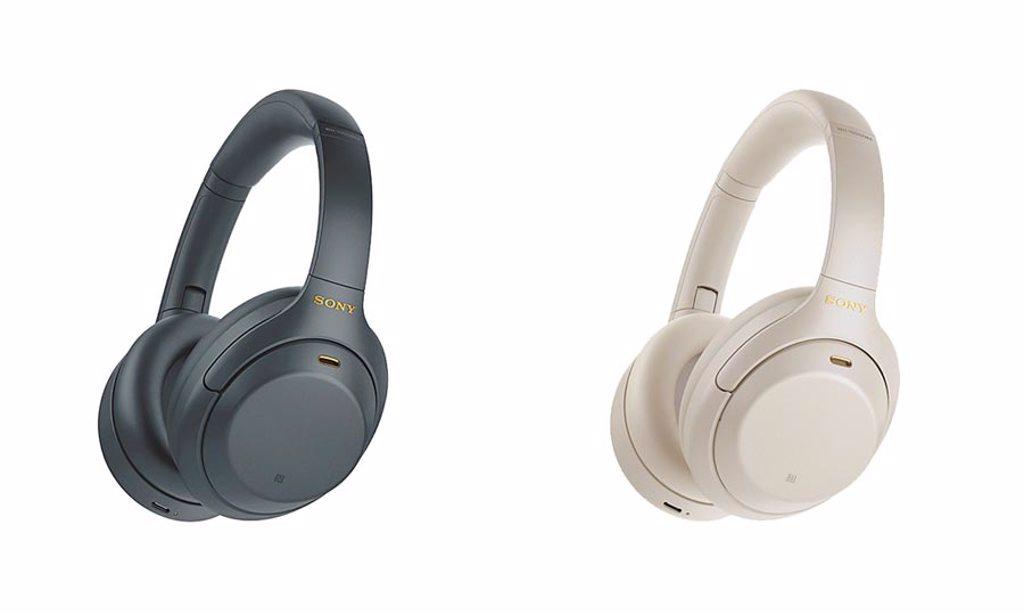Sony全新的WH-1000XM4無線藍牙主動式降噪耳機提供黑、銀兩色可選,1萬900元。(Sony提供)