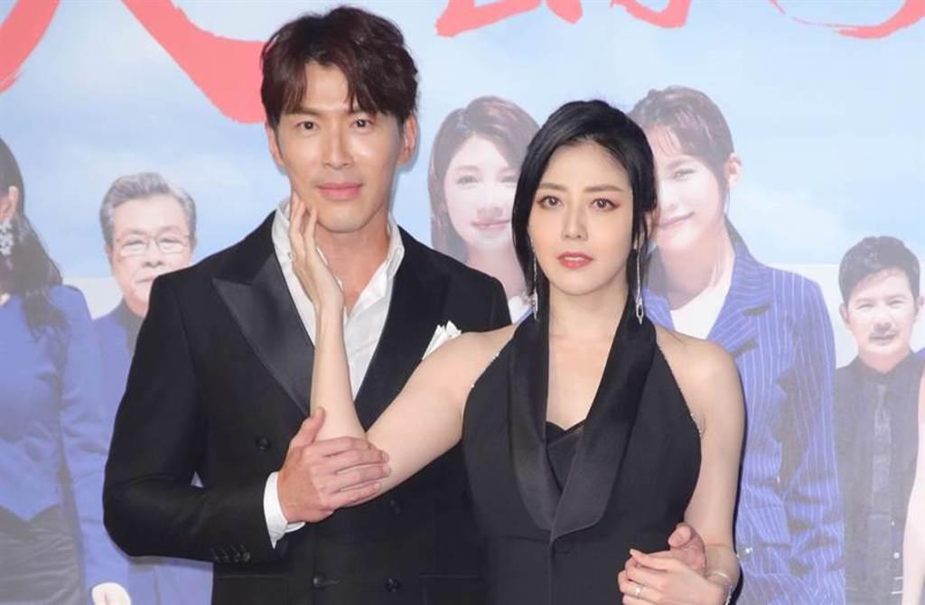 韓瑜和黃少祺在《天之驕女》飾演「暗黑夫妻檔」。