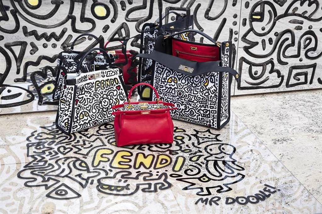 微風信義獨家包款,首推「FENDI x MR. DOODLE聯名系列」,價格店洽。(微風提供)