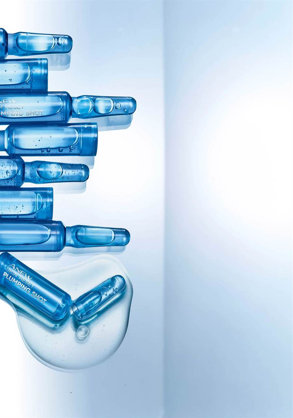 AVON雅芳新活特彈安瓶能幫助維持彈力因子I和III,展現澎潤肌膚。(圖/品牌提供)