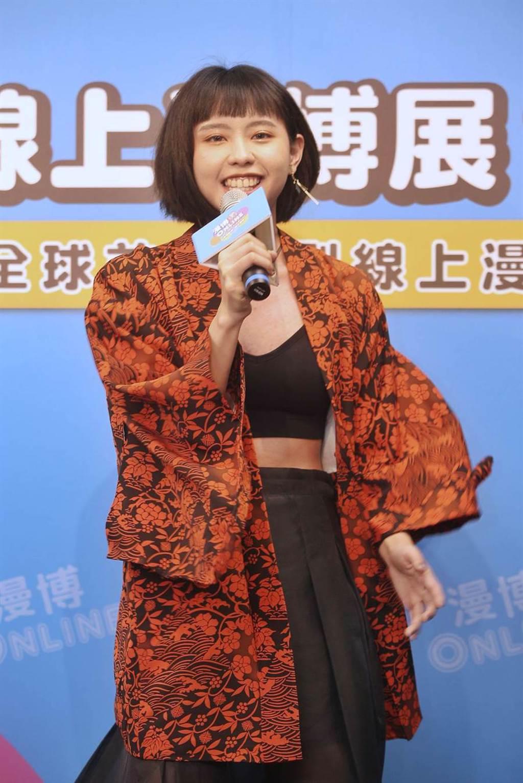 歌手李芷婷以演唱日本動畫《鬼滅之刃》主題曲《紅蓮華》走紅,線上漫博也將參與直播。(杜宜諳攝)