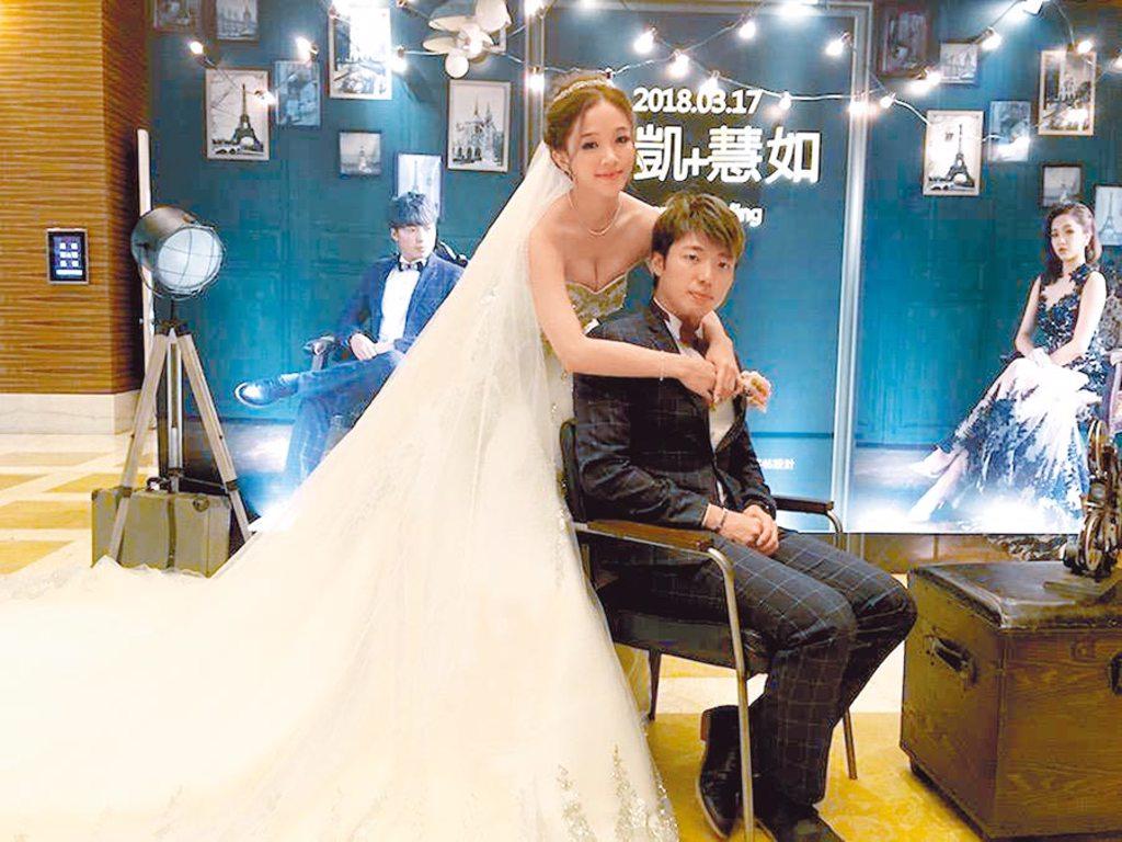 賴慧如(左)和大16歲導演老公高琮凱2016年結婚、2018年補辦婚禮。(資料照片)