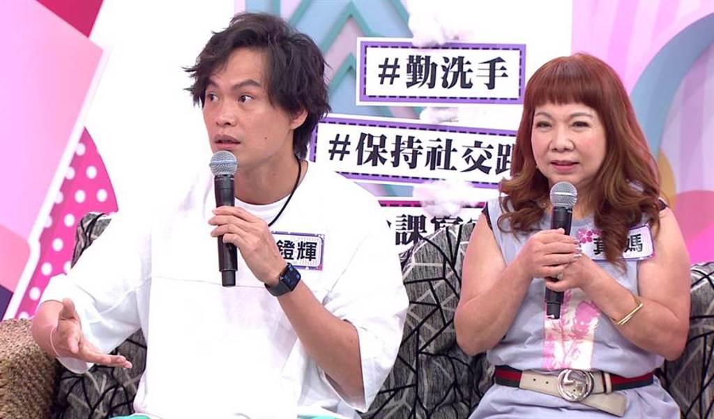黃鐙輝(左)上節目控訴丈母娘亂花他的錢。(年代提供)