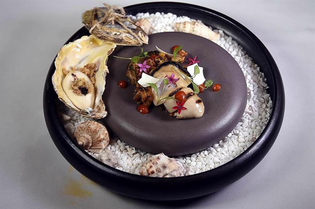 「JL Studio」的菜餚形色很法國,卻是新加坡風味菜式。(圖/姚舜)
