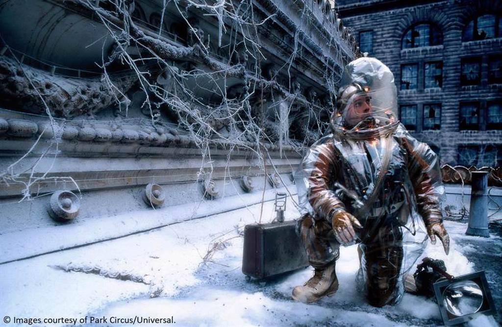 布萊德彼特在《未來總動員》中出色表現讓他首次拿下金球獎最佳男配角。(雄影提供)