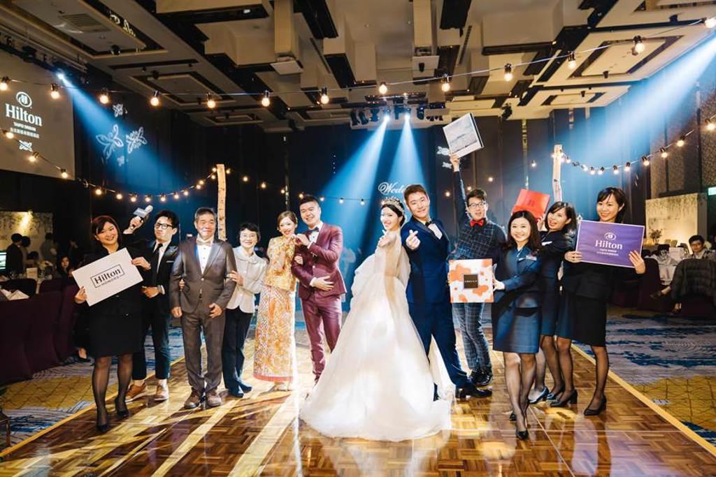 婚禮體驗日限量開放100組新人報名,活動全程免費。(台北新板希爾頓酒店提供)