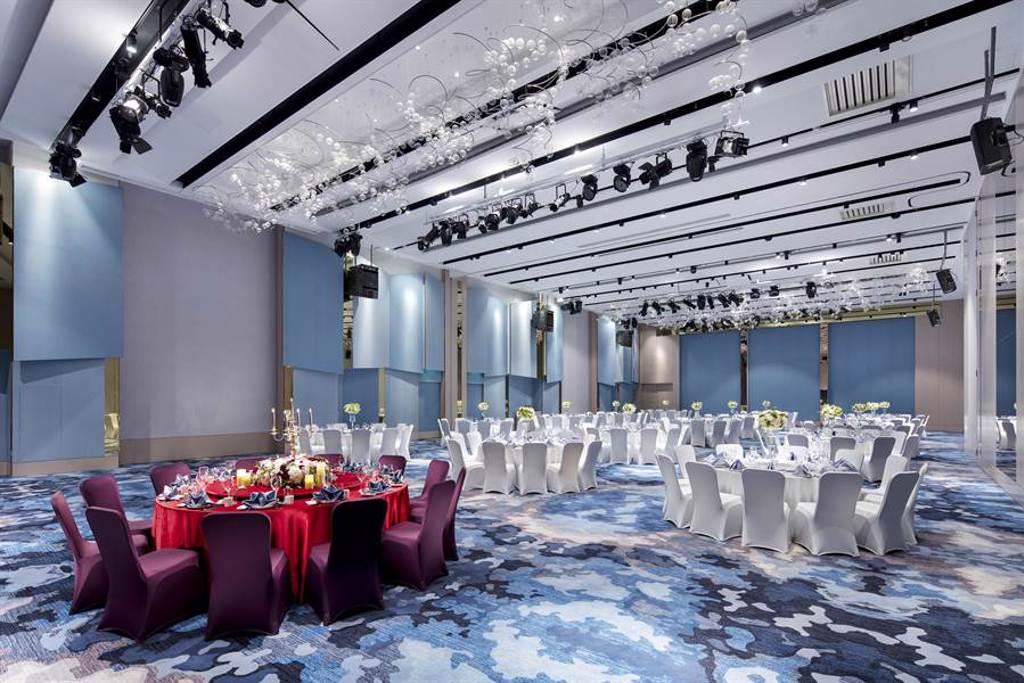 台北新板希爾頓酒店的宴會樓「如意廳」。(台北新板希爾頓酒店提供)