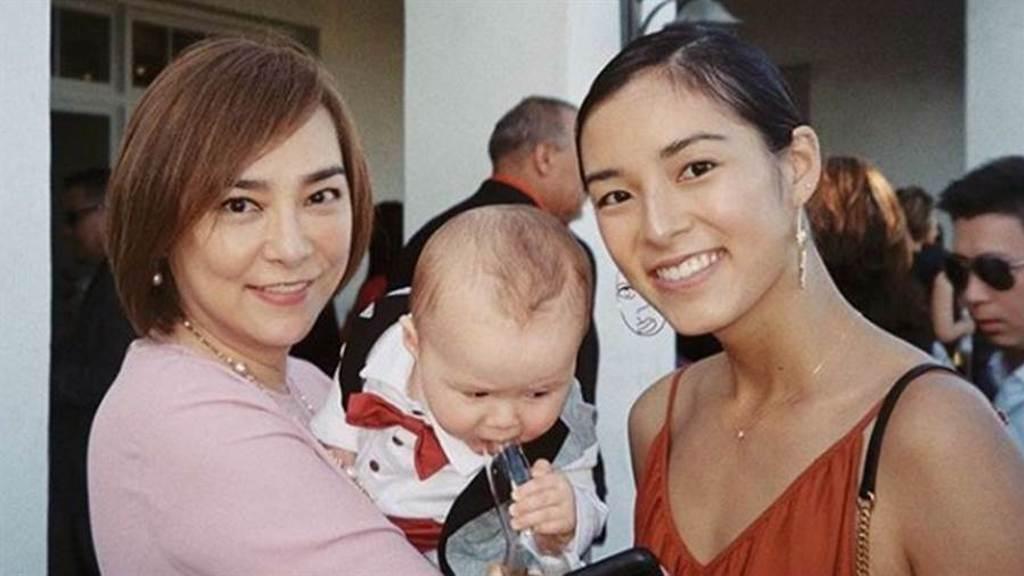 朱寶意將美人基因遺傳給女兒。(圖/IG@salusliang)