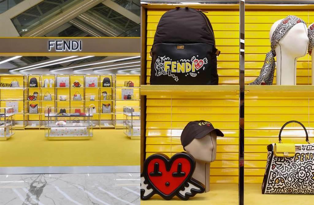 FENDI X Mr. Doodle聯名七夕快閃店 當代藝術完美融合羅馬傳統(圖/品牌提供)