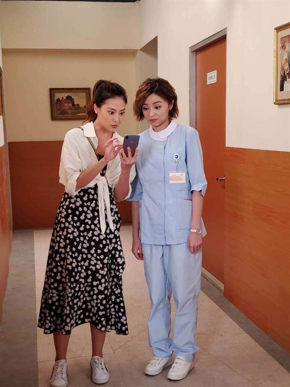 顏曉筠在民視八點檔《多情城市》演出王瞳妹妹,感謝王瞳私下仍給她加油打氣。(民視提供)