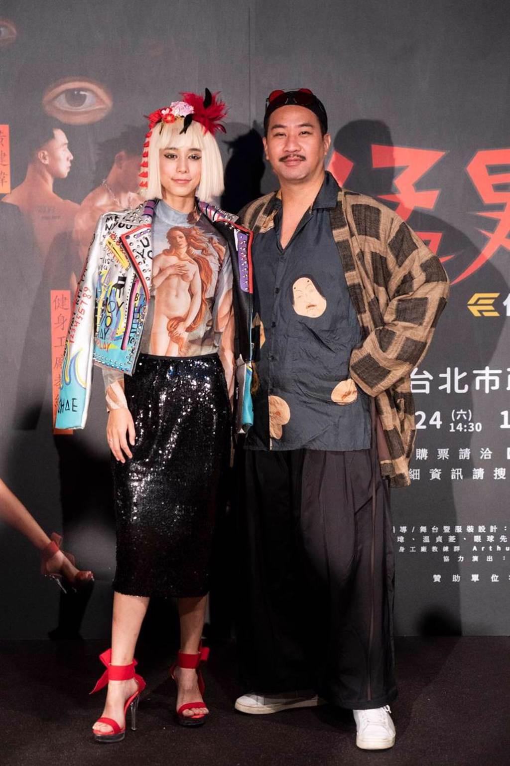 黃健瑋、温貞菱主演舞台劇《猛男地獄》。(眼球愛地球劇團提供)
