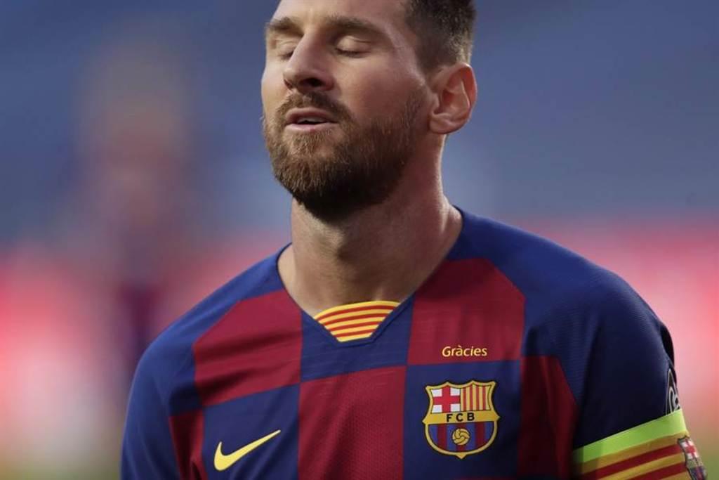 巴塞隆納前鋒梅西被傳言可能轉隊。(美聯社資料照)